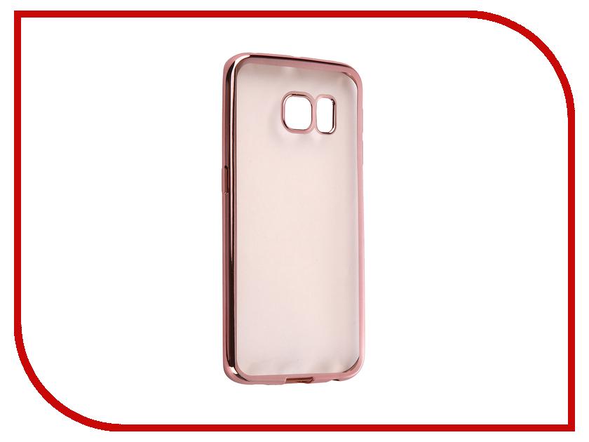 Аксессуар Чехол Samsung G925F Galaxy S6 Edge DF sCase-19 Rose Gold<br>