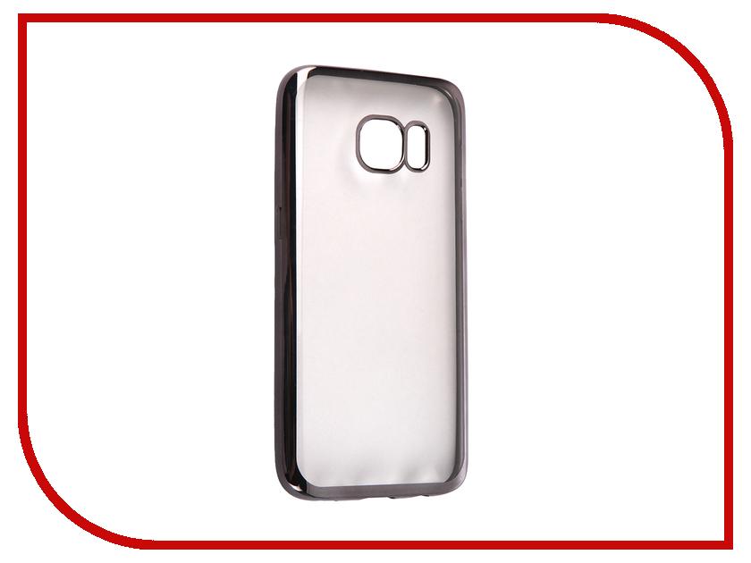 Аксессуар Чехол Samsung Galaxy S7 DF sCase-32 Black<br>
