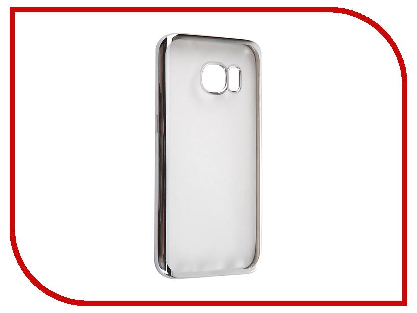 Аксессуар Чехол Samsung Galaxy S7 DF sCase-32 Silver<br>