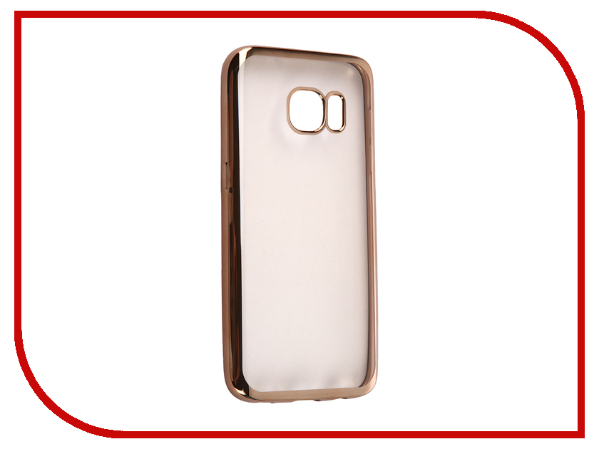 Аксессуар Чехол Samsung Galaxy S7 DF sCase-32 Gold аксессуар чехол samsung g925f galaxy s6 edge df scase 19 rose gold