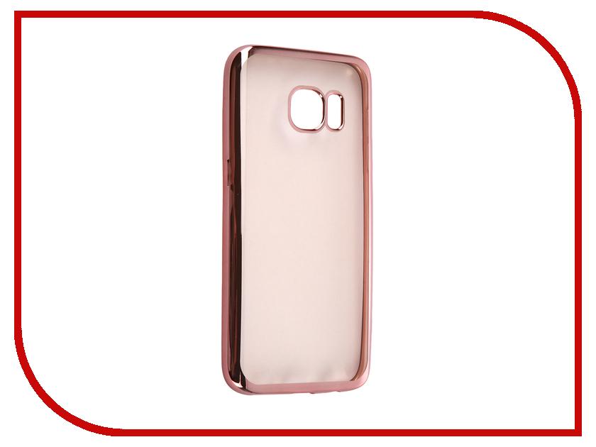 Аксессуар Чехол Samsung Galaxy S7 DF sCase-32 Rose Gold<br>
