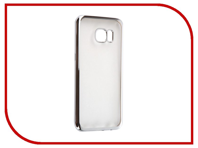 Аксессуар Чехол Samsung Galaxy S7 Edge DF sCase-33 Silver аксессуар чехол samsung galaxy a7 2016 df scase 24 silver