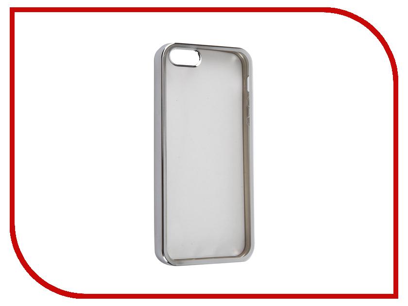 Аксессуар Чехол DF iCase-01 для iPhone 5 / 5S / SE Silver<br>