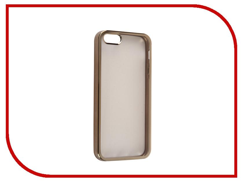 Аксессуар Чехол DF iCase-01 для iPhone 5 / 5S / SE Gold<br>