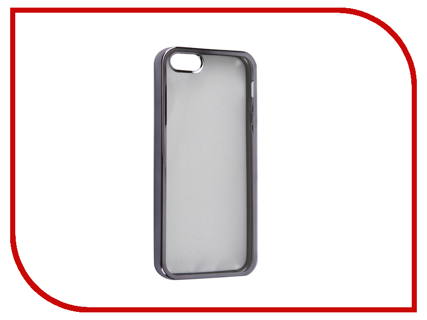 Аксессуар Чехол DF iCase-01 для iPhone 5 / 5S / SE Space Grey<br>