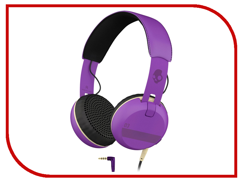 Гарнитура Skullcandy Grind Ill Famed Purple гарнитура skullcandy ink d with mic dark red s2ikhy 481