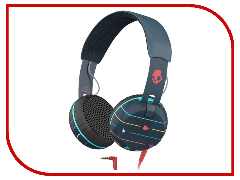Гарнитура Skullcandy Grind Stripes Navy S5GRHT-469 гарнитура skullcandy ink d with mic dark red s2ikhy 481