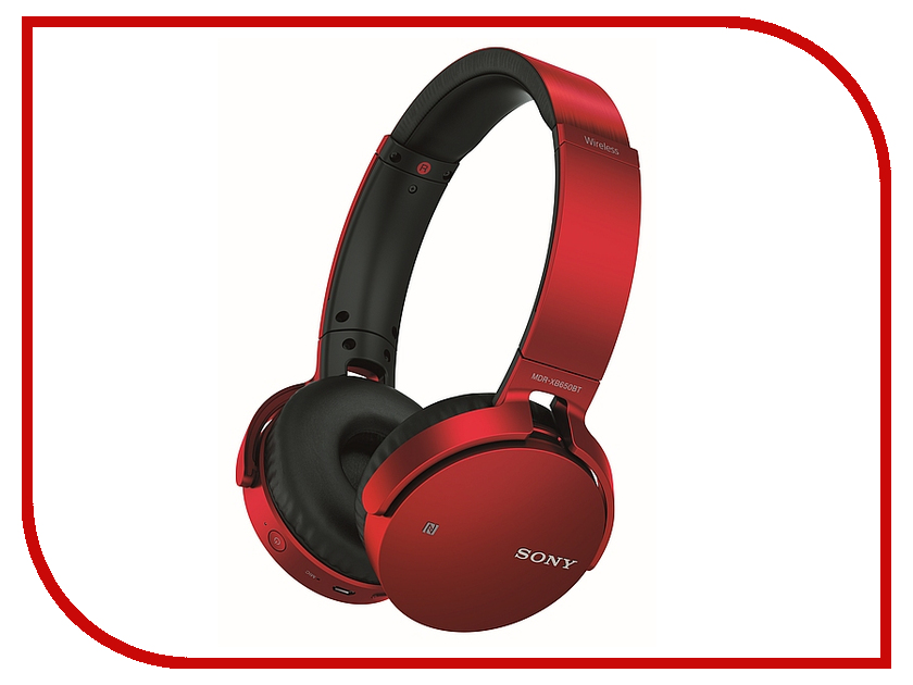 Гарнитура Sony MDR-XB650BT Red philips наушники philips she8100bl 00 стерео