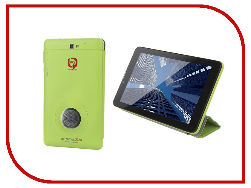 Планшет BQ 7063G Disco Green Spreadtrum SC7731 1.3 GHz/1024Mb/8Gb/Wi-Fi/3G/Bluetooth/GPS/Cam/7.0/1024x600/Android