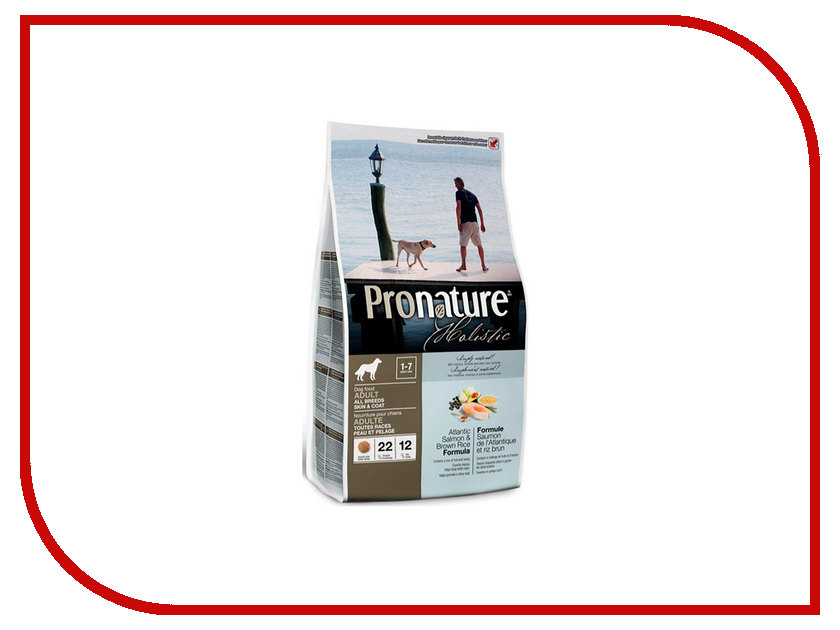 Корм Pronature Holistic Лосось с рисом 340g для собак 102.2005а