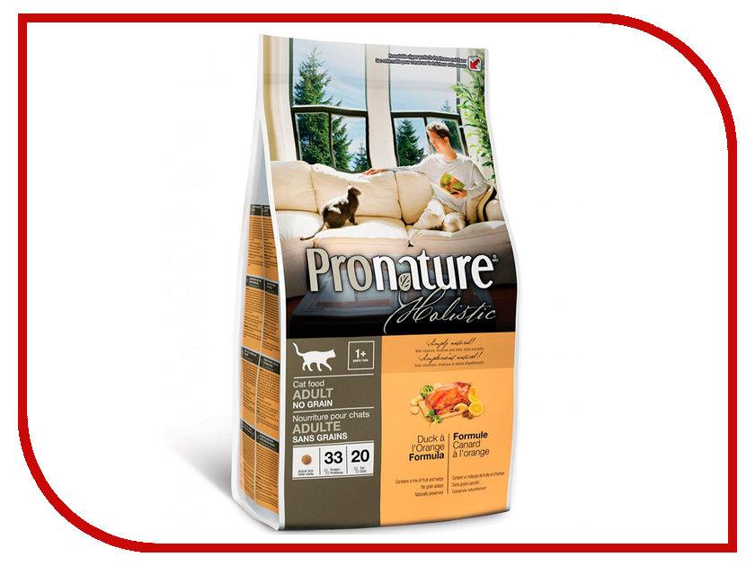 Корм Pronature Holistic Утка с апельсином 340g для кошек 102.2020 сухой корм pronature holistic adult cat skin