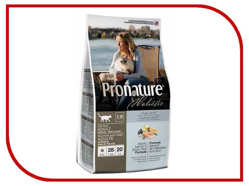 Корм Pronature Holistic Лосось с рисом 340g для кошек 102.2029 сухой корм pronature holistic adult cat skin