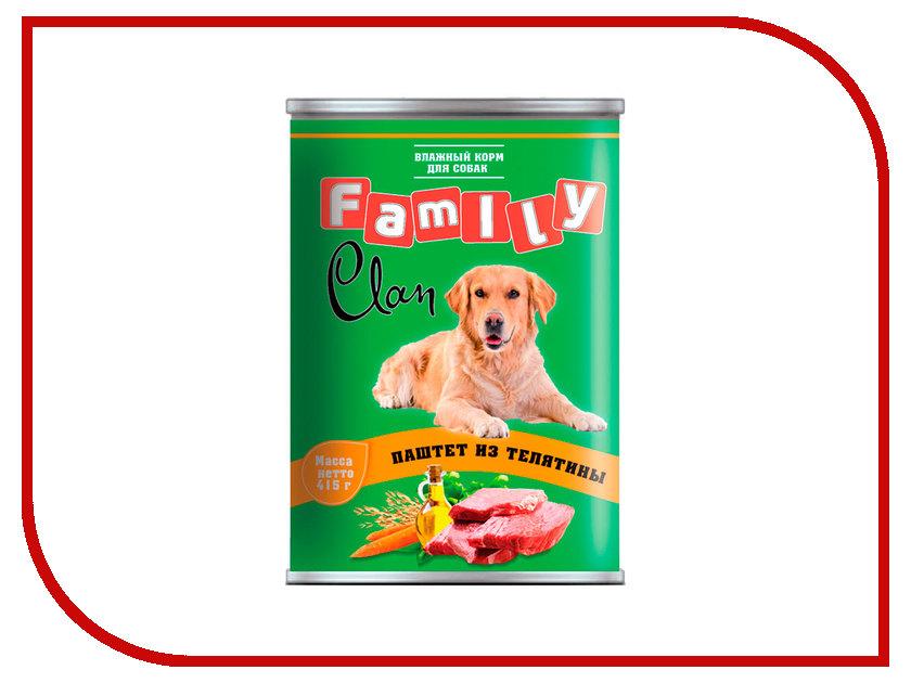Корм Clan Family Паштет из телятины 415g для собак 130.1.803