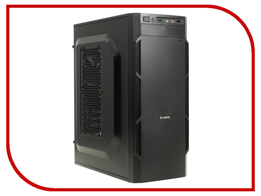 Корпус Zalman ZM-T1 Plus Mini Tower Black<br>