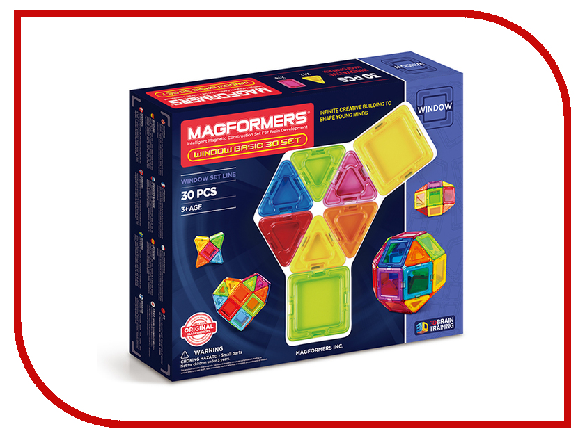 Конструктор Magformers Window Basic 30 714002 кольца sokolov 714002 s