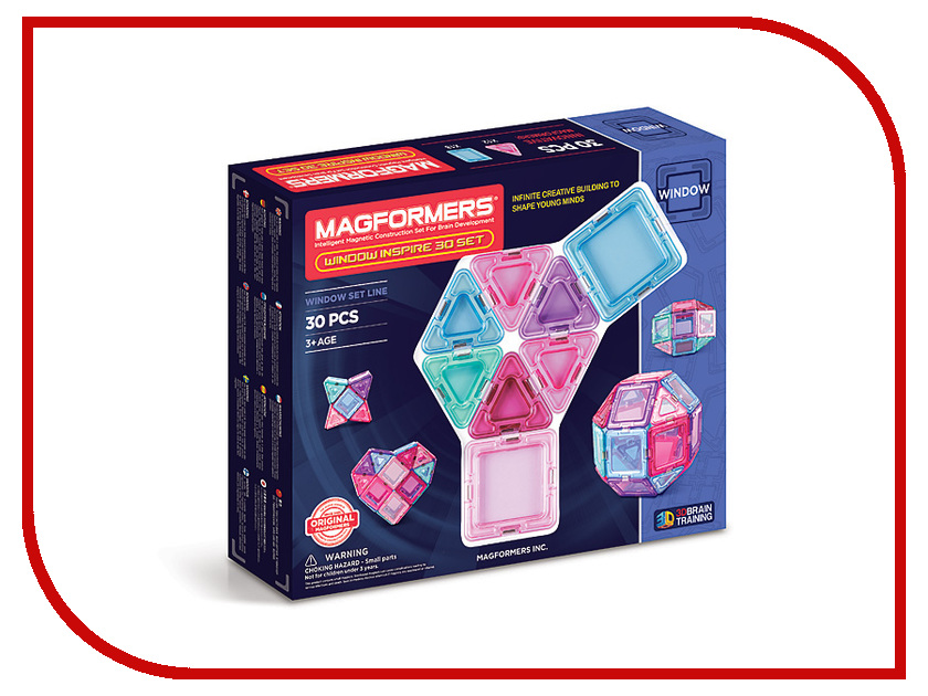 Конструктор Magformers Window Inspire 30 714004 магнитный конструктор magformers window inspire 30 set 714004