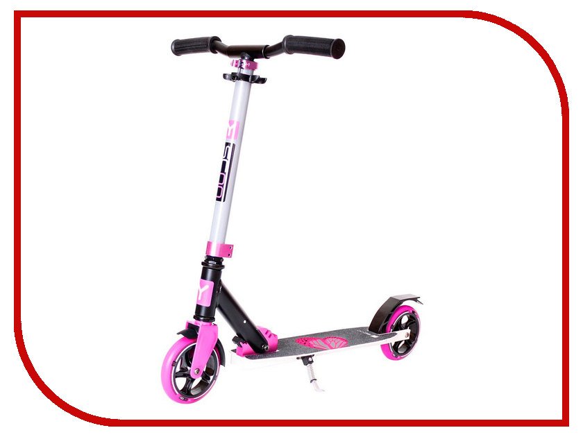 Самокат Y-SCOO RT City 145 Hong Kong Family Design Butterfly Pink<br>