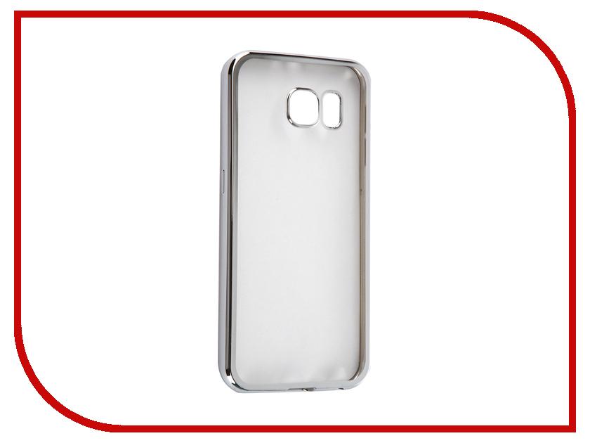 Аксессуар Чехол Samsung G920F Galaxy S6 DF sCase-31 Silver<br>