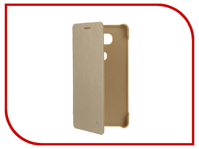 ��������� ����� Huawei Honor 5x Apres Flip PU Leather Case Cover Gold