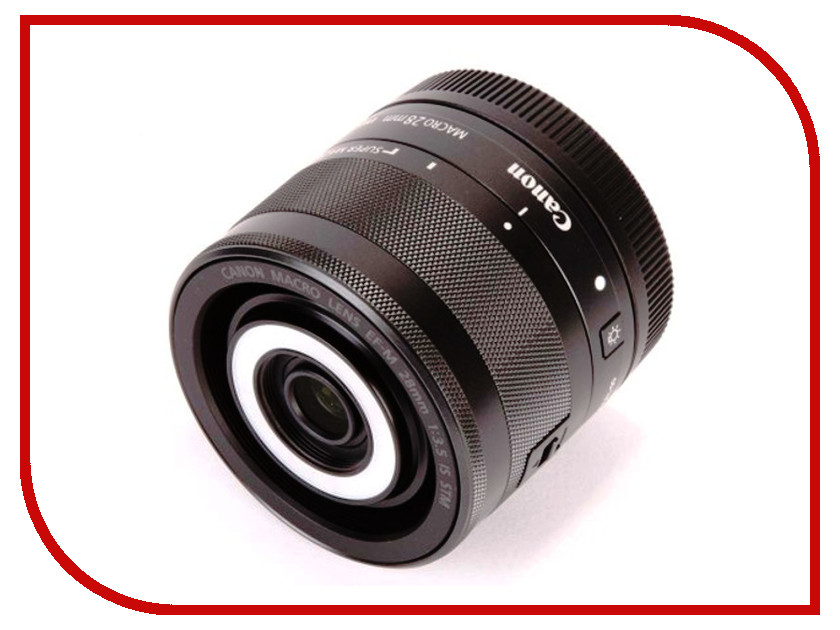 Объектив Canon EF-M 28 mm F/3.5 Macro IS STM объектив canon ef s 35 f2 8 is stm macro черный