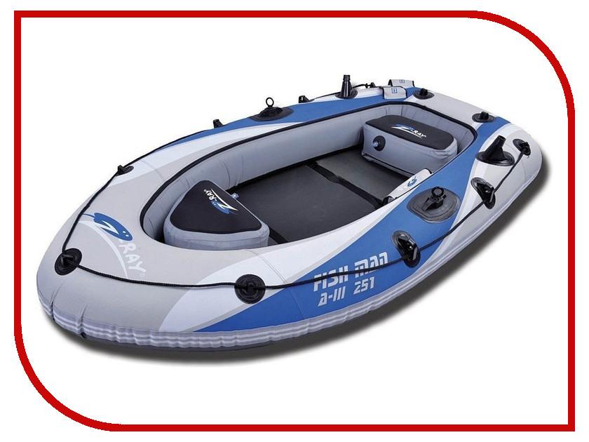 Лодка Jilong Fishman Boat A-III 251 с электромотором 898281 лодка jilong cheyenne iii 200 jl007111n
