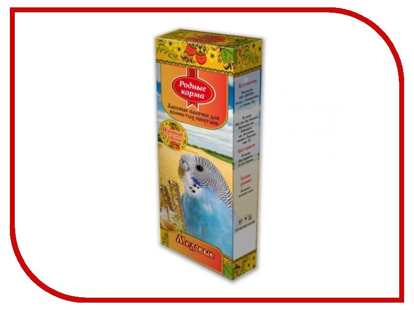 Корм Родные Корма Зерновая палочка с медом 45г для попугаев 60973