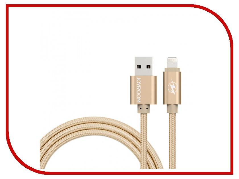 Аксессуар JoyRoom MFi Braided USB-Lightning 120cm Golden 17896<br>