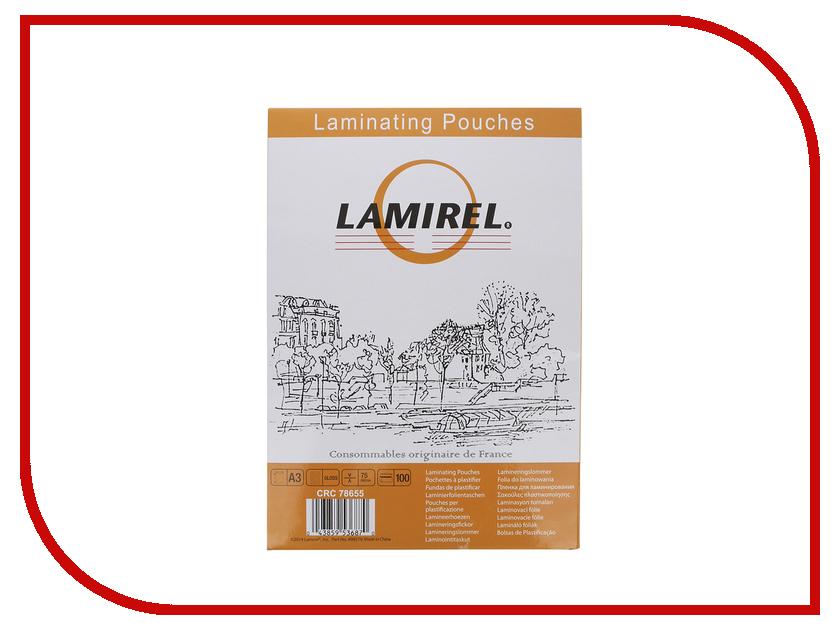 Пленка для ламинатора Fellowes 75мкм 100шт LA-78655