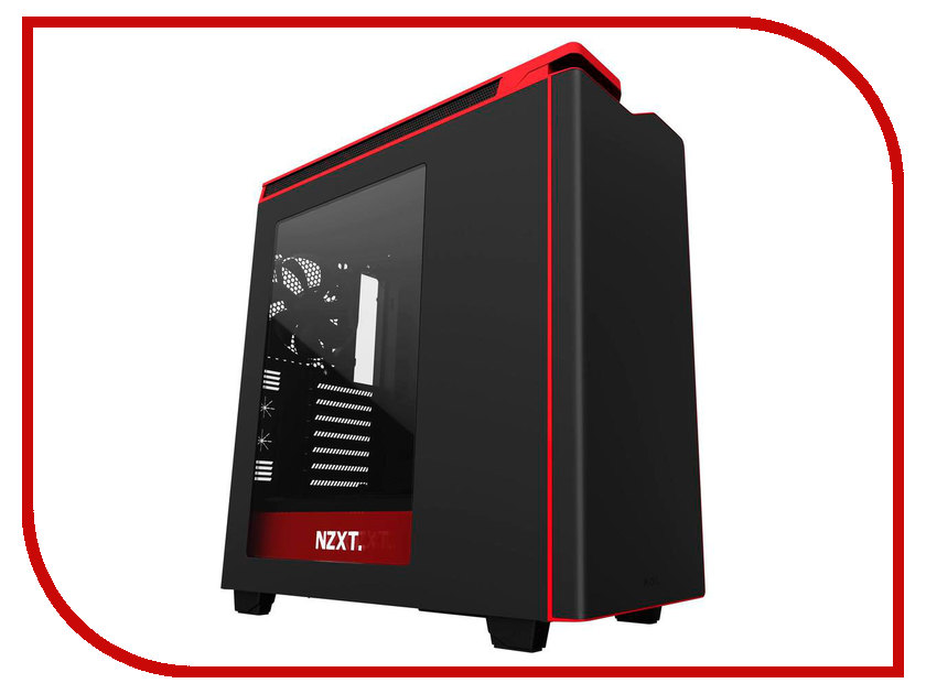 Корпус NZXT H440 Black-Red CA-H442W-M1 корпус nzxt h440 razer