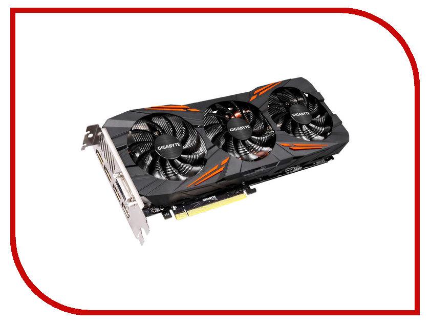 Видеокарта GigaByte GeForce GTX 1080 1721Mhz PCI-E 3.0 8192Mb 10010Mhz 256 bit DVI HDMI HDCP GV-N1080G1 GAMING-8GD