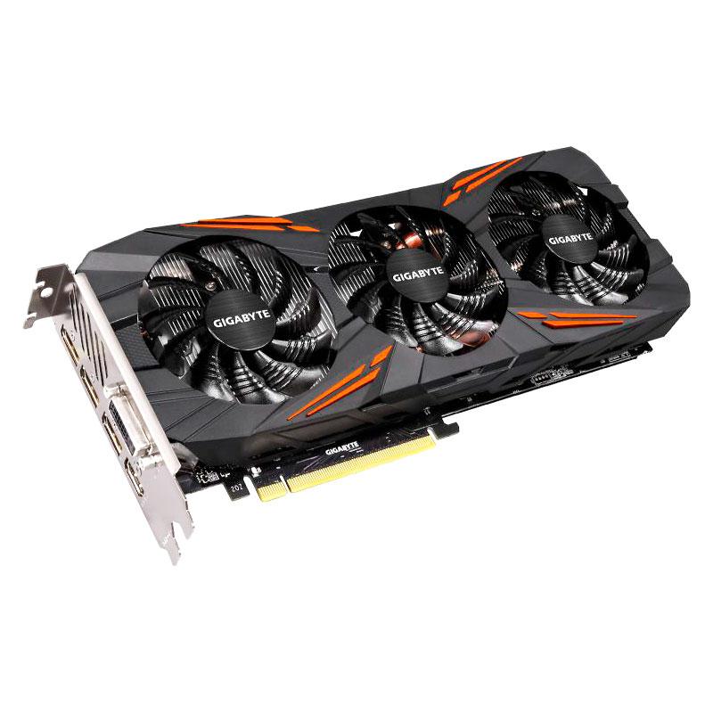 Видеокарта GigaByte GeForce GTX 1080 1721Mhz PCI-E 3.0 8192Mb 10010Mhz 256 bit DVI HDMI HDCP GV-N1080G1 GAMING-8GD видеокарта 8192mb gigabyte rx vega 64 pci e hdmi dp hdcp gv rxvega64gam oc 8gd retail