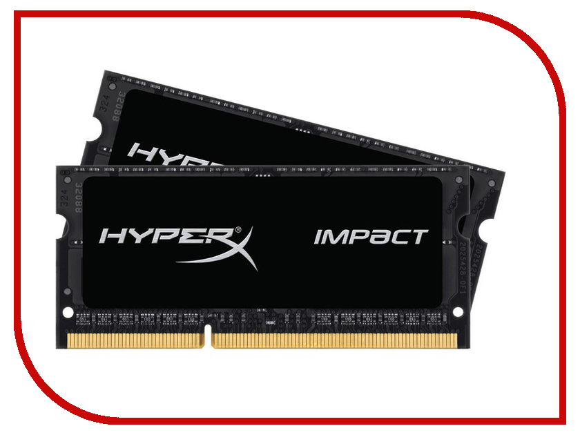 Модуль памяти Kingston HyperX Impact DDR3L SO-DIMM 2133MHz PC3-17000 - 8Gb KIT (2x4Gb) HX321LS11IB2K2/8<br>