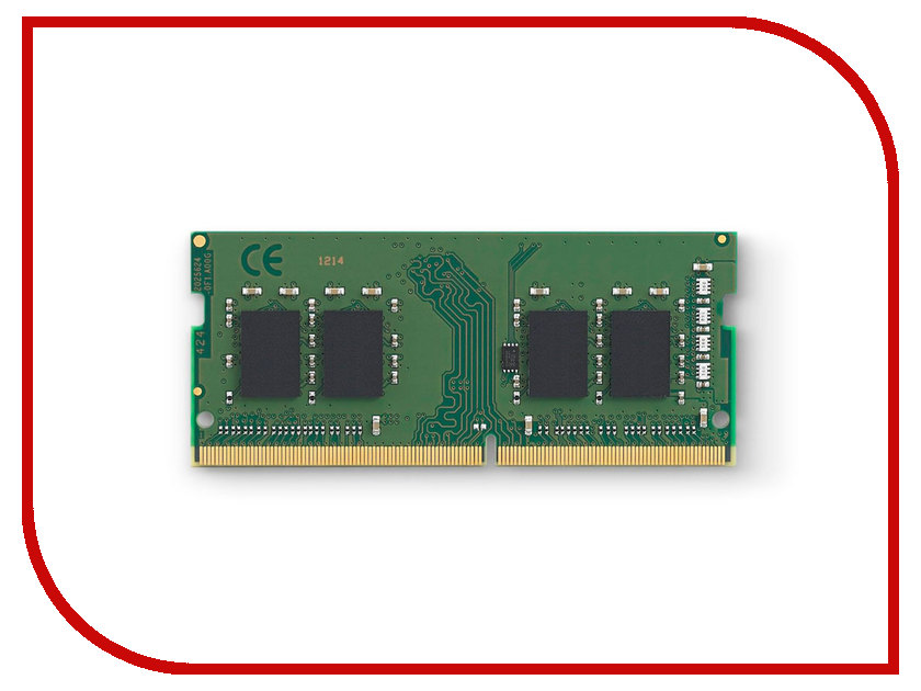 Модуль памяти Kingston ValueRAM DDR4 SO-DIMM 2133MHz PC4-17000 - 4Gb KVR21S15S8/4 модуль памяти so dimm ddr4 4gb pc17000 2133mhz kingston kvr21s15s8 4