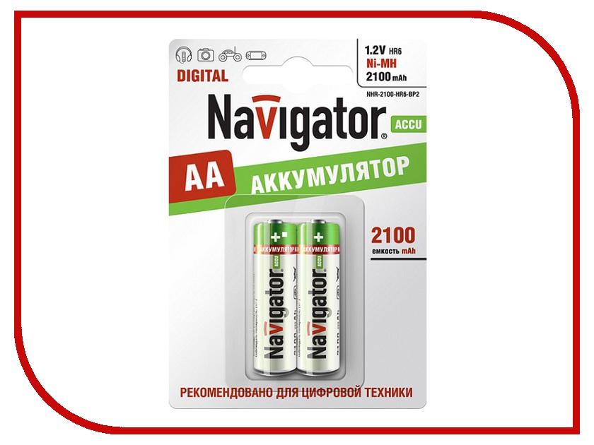 Аккумулятор AA - Navigator 94 463 2100 mAh Ni-MH (2 штуки)<br>