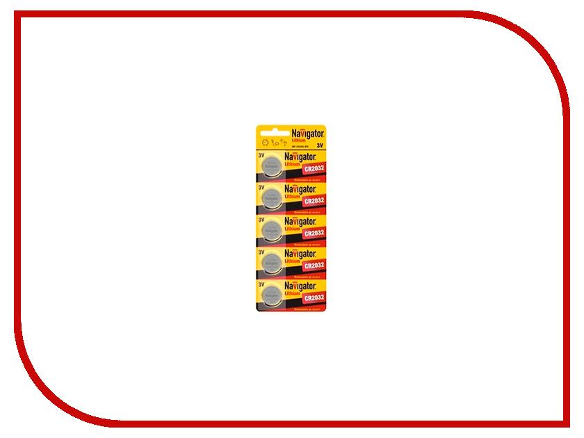 Батарейка CR2032 - Navigator 94 765 CR-2032-5BL (5 штук)