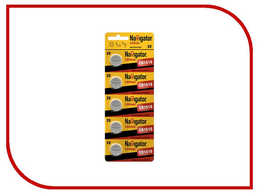 Батарейка CR1616 - Navigator 94 779 CR-1616-5BL (5 штук)<br>
