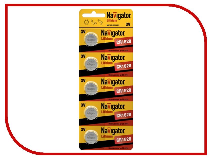 Батарейка CR1620 - Navigator 94 780 CR-1620-5BL (5 штук)<br>