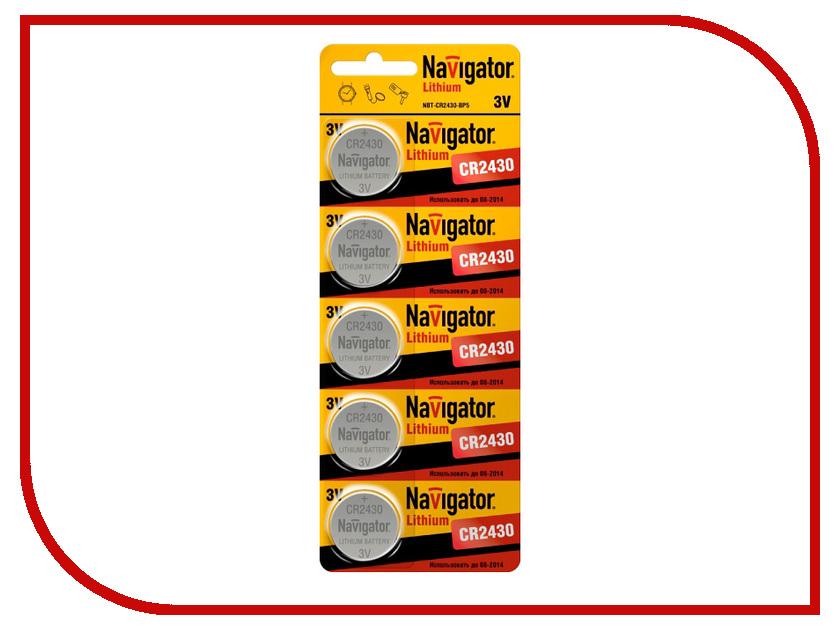 Батарейка CR2430 - Navigator 94 781 CR-2430-5BL (5 штук)