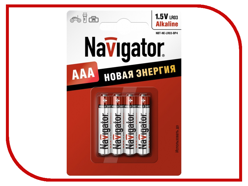 Батарейка AAA - Navigator Alkaline 94 751 LR03-4BL (4 штуки)<br>