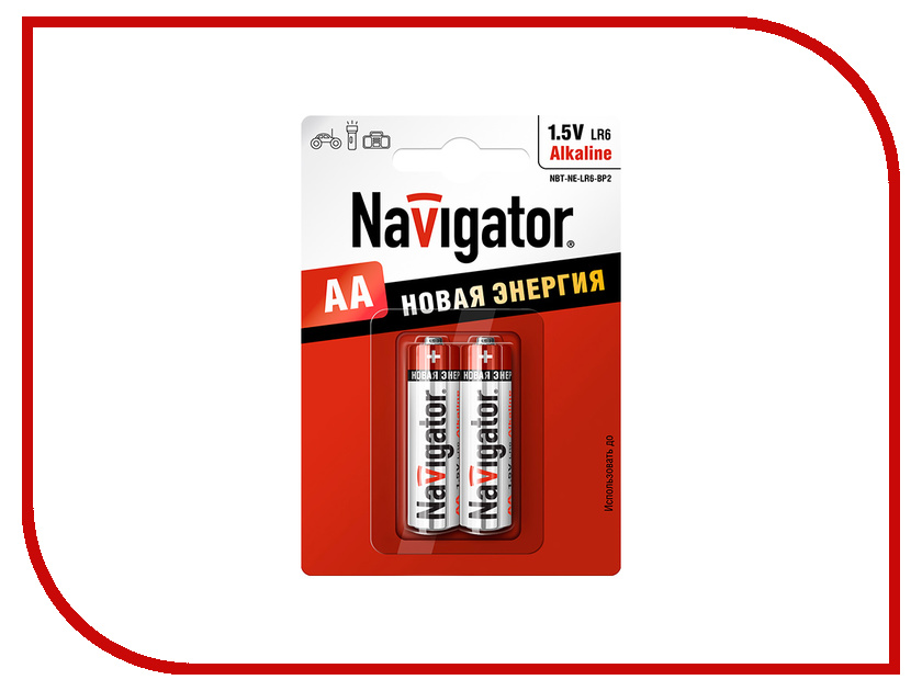 Батарейка AA - Navigator Alkaline 94 752 LR06-2BL (2 штуки)