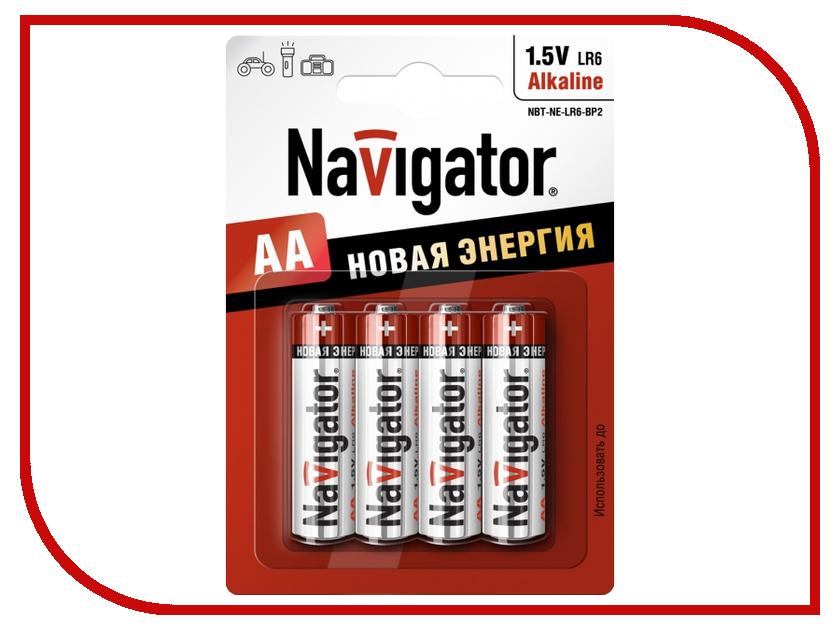 Батарейка AA - Navigator Alkaline 94 753 LR06-4BL (4 штуки)