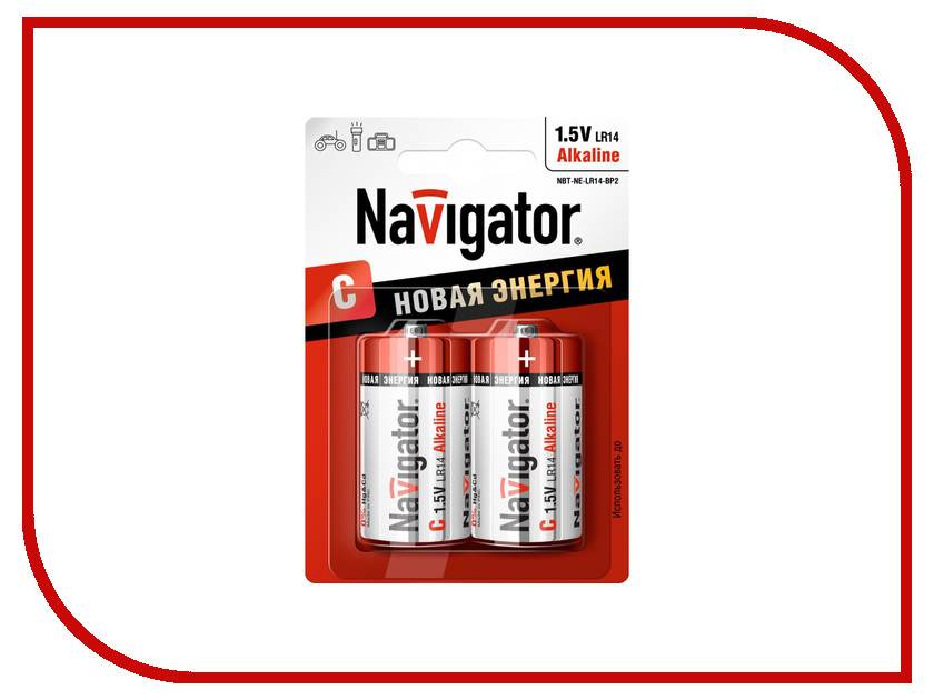 Батарейка C - Navigator Alkaline 94 754 LR14-2BL (2 штуки)<br>