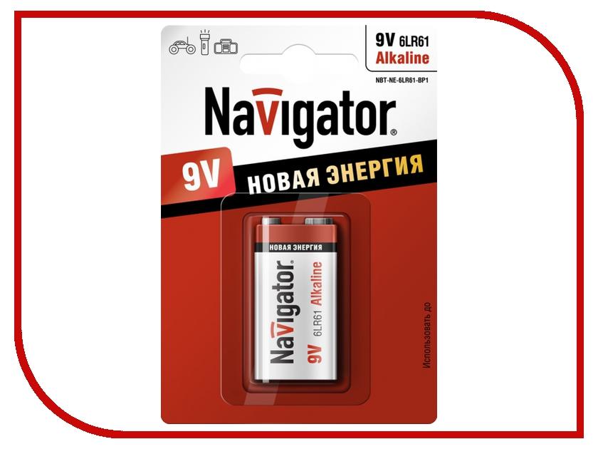 Батарейка КРОНА Navigator Alkaline 94 756 6LR61-1BL (1 штука)