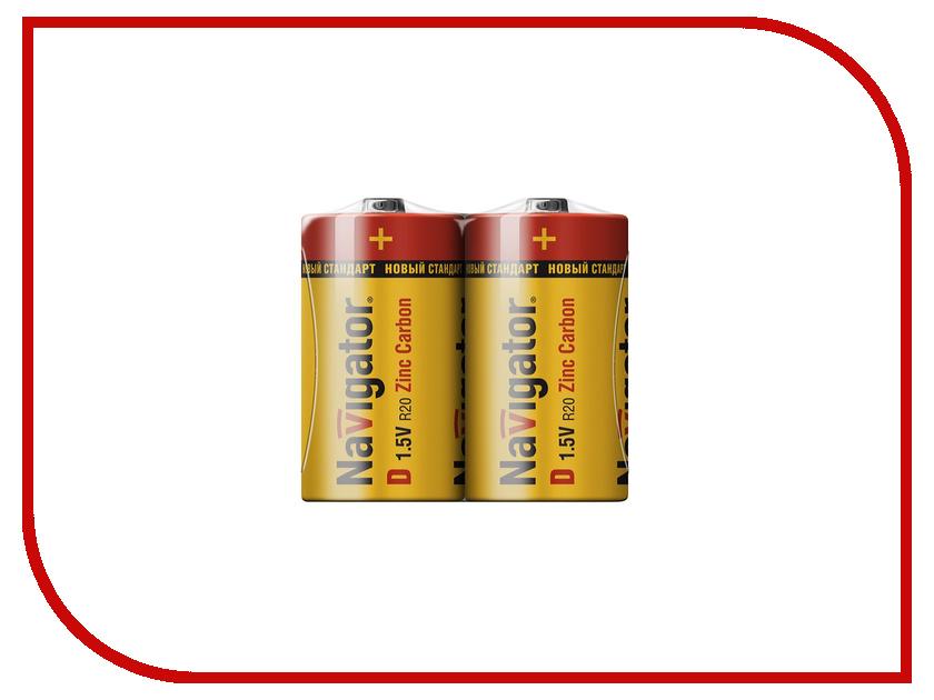 Батарейка D - Navigator Heavy Duty 94 761 R20 (2 штуки)<br>