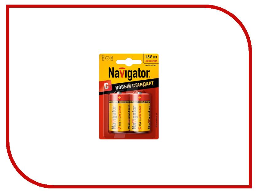 Батарейка C - Navigator Heavy Duty 94 768 R14-2BL (2 штуки)