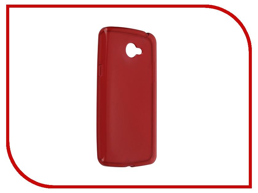 Аксессуар Чехол-накладка LG K5 iBox Crystal Red<br>