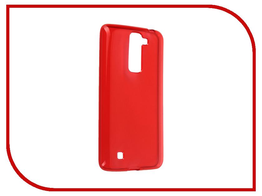 Аксессуар Чехол-накладка LG K7 iBox Crystal Red<br>