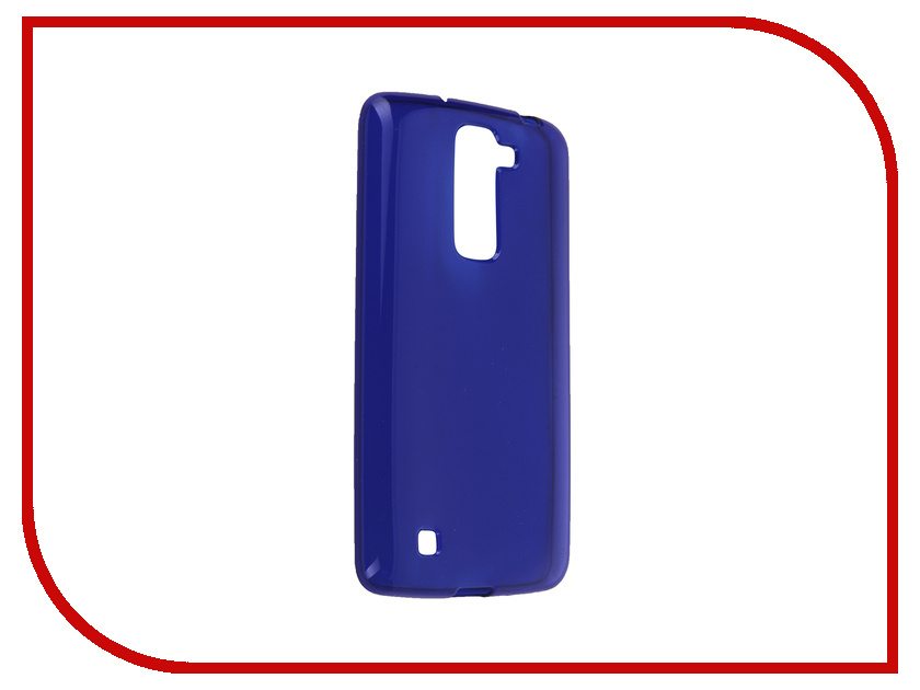 Аксессуар Чехол-накладка LG K7 iBox Crystal Blue<br>