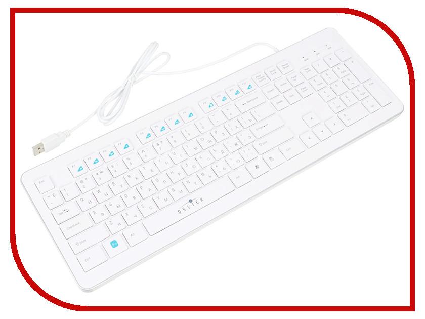 Клавиатура Oklick 540S White
