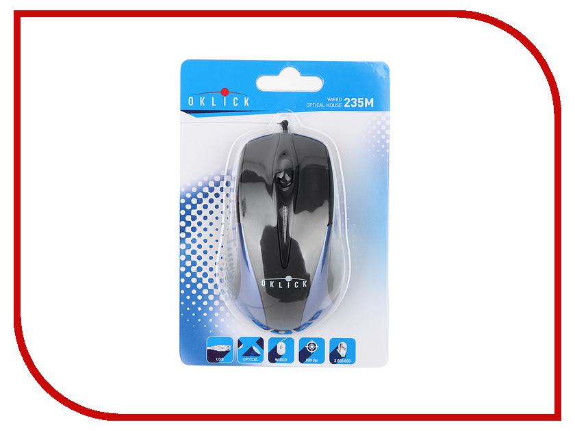 Мышь проводная Oklick 235M Black-Blue<br>
